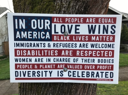 In Our America Sign